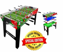 Tavolo Multigioco Sport One Maxi Supertable - 4 Giochi in 1 - Calciobalilla 4 Vs 4 Aste Rientranti / Ping Pong / Tavolo da Biliardo & Speed Hockey - Cm. 121,90 X 60 X 81,5