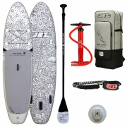 Tavola Stand Up Paddle Sup Gonfiabile JBay.Zone Fra Desing - Cm. 320x81x15 - Portata Kg 145 - Completo di Accessori - Limited Edition