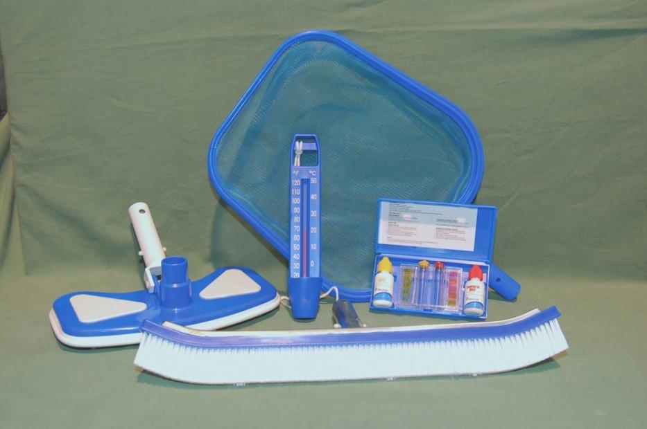 Kit di manutenzione con retino kit analisi scopa for Scopa per piscina