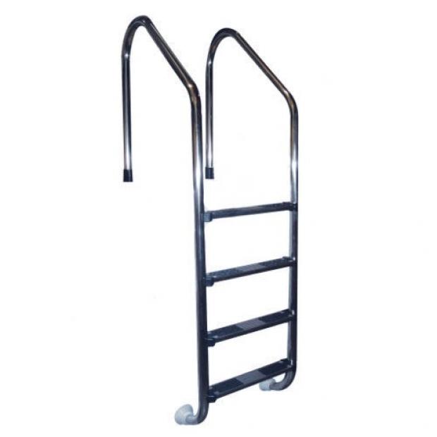 Scaletta scala di risalita per piscina con skimmer in acciaio inox trianon aisi 316 4 scalini - Piscine in acciaio inox ...